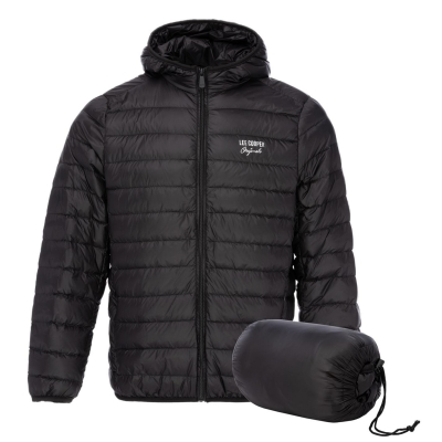 Jacheta Lee Cooper Micro cu gluga pentru Barbati negru