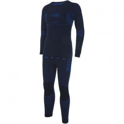 Lenjerie Thermoactive For Viking Riko negru And albastru 500-14-3030-15 pentru Copii