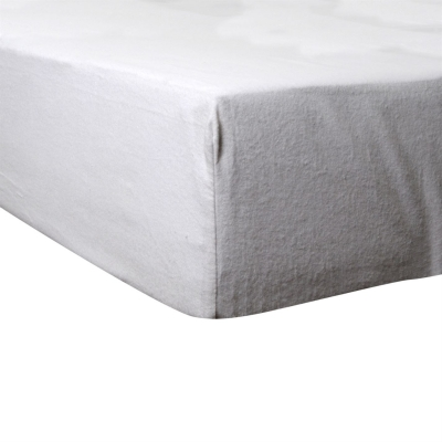 Love My Sleep Fitted Flannel Sheet alb