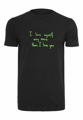 Tricou Love Myself negru Mister Tee