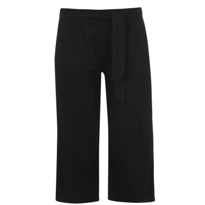 Pantaloni M Collection Crop negru