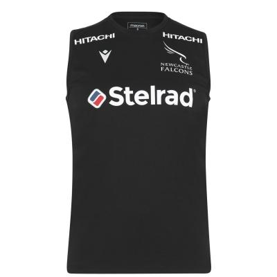 Macron Falcons Poly Shirt pentru Barbati negru
