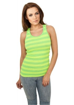 Maiouri fashion cu dungi verde-neon Urban Classics galben