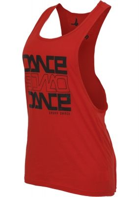 Maiouri fitness bumbac femei Dance rosu-negru Urban Dance
