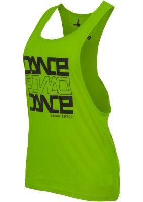 Maiouri fitness bumbac femei Dance verde-deschis Urban Dance negru