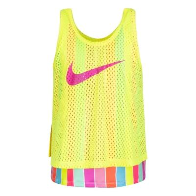 Maiou Nike cu dungi pentru fete pentru Bebelusi galben