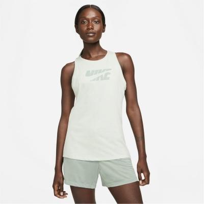Maiou Nike Dri-FIT Icon Clash imprimeu Graphic antrenament pentru femei deschis albastru