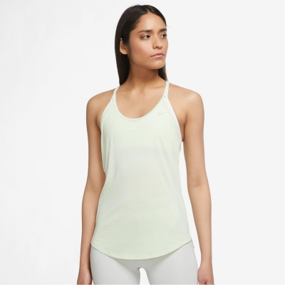 Maiou Nike Dri-FIT One Standard Fit pentru femei verde lime crem alb