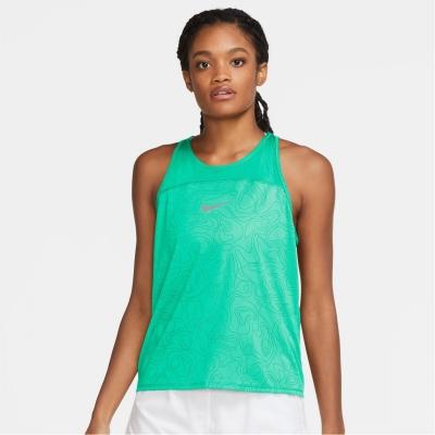 Maiou Nike Miler Run Division Printed alergare pentru femei verde glow refl