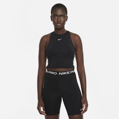 Maiou Nike Pro Dri-FIT Cropped imprimeu Graphic pentru femei negru