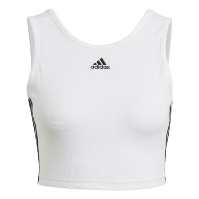 Maiouri adidas 3S Crop pentru femei alb negru