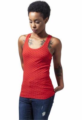 Maiou cu buline pentru Femei Urban Classics rosu negru