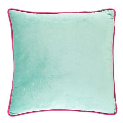 Maison Feather Cushion albastru aqua fucsia