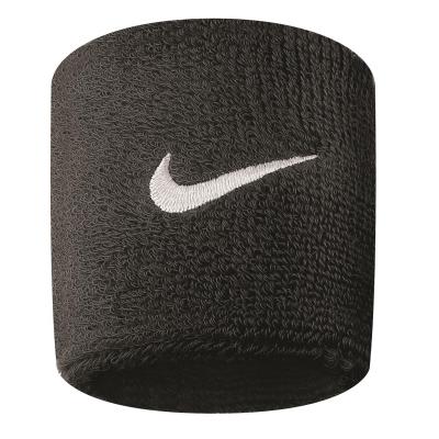 Mansete pentru tenis Set 2 Nike Swoosh negru alb