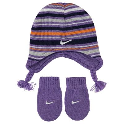 Manusi Set Caciula Beanie Nike and pentru fete pentru Bebelusi