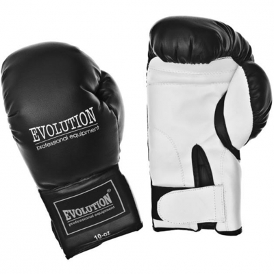 Manusi de box Evolution Synthetic Boxing Basic RB-2210 negru