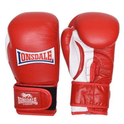 Manusi antrenament Lonsdale Pro Safe Spar pentru adulti rosu