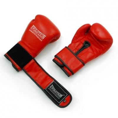 Manusi de box Professional Boxing Evolution Made Of piele naturala PRO RB-1510,1514 rosu