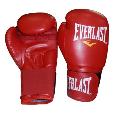 Manusi de box din piele Everlast rosu