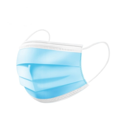 Masca Chirurgicala Medicala Cu Elastic, 3 Straturi, 50 Buc