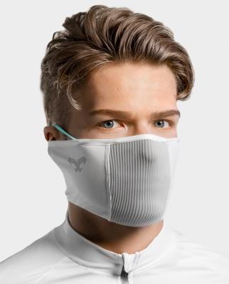 Masca pentru sportivi pentru vreme calda Naroo F1s cu filtrare particule Alb