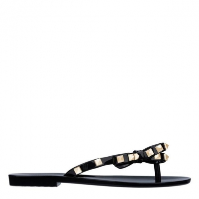 Papuci de plaja Melissa Melissa Harm negru