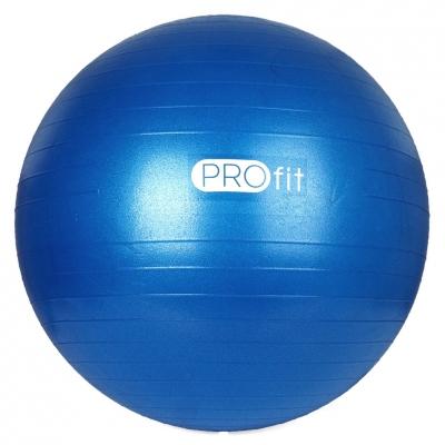 Minge fitness PROFIT 45 Cm albastru cu pompa DK 2102