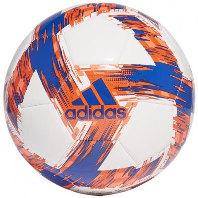 Minge fotbal Adidas Capitano Club alb-portocaliu And albastru FT6599