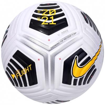 Minge fotbal Nike Russian Premier League Flight alb-negru-galben CQ7328 PL 100