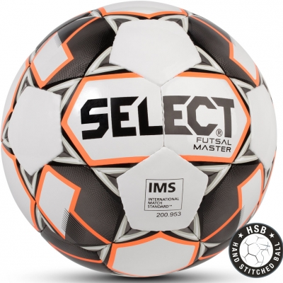 Minge fotbal Select Futsal Master IMS 2018 Hall alb portocaliu negru 14258