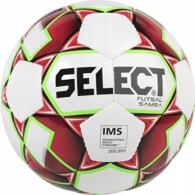 Minge fotbal Select Hala Futsal Samba 2018 IMS alb-rosu 14791