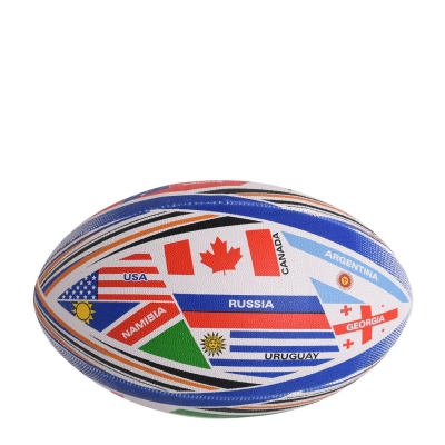 Minge rugby Sportech World alb albastru