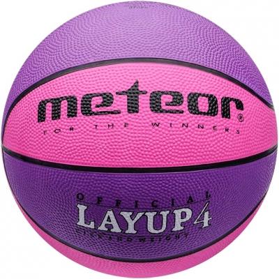 Mingi de Baschet Meteor Layup 4 roz 07029