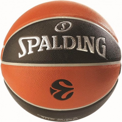 Mingi de Baschet Spalding NBA Euroleague IN OUT portocaliu-negru gazon sintetic-500 84-002Z