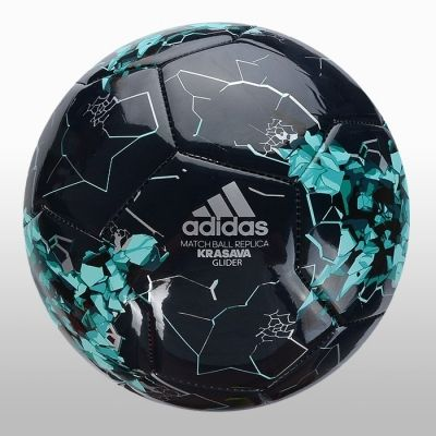 Minge de fotbal neagra adidas Confed Glider Unisex adulti