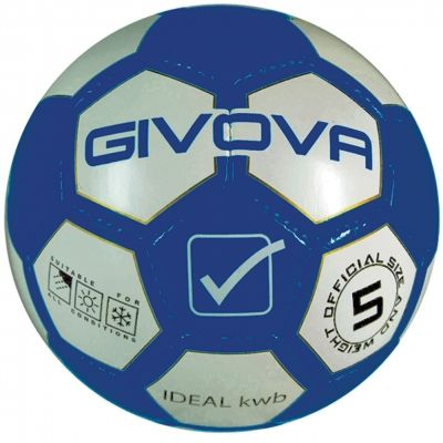 Mingi fotbal PALLONE IDEAL KWB Givova albastru alb