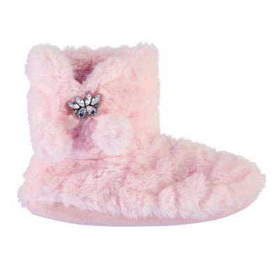 Papuci pufosi de casa tip gheata pentru Femei