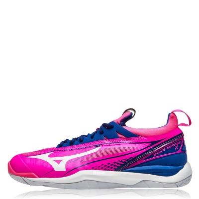 Adidasi pentru sala Mizuno Wave Mirage roz glo alb