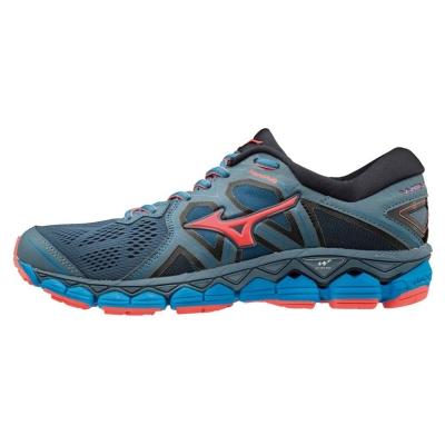Adidasi sport Mizuno Wave Sky 2 pentru Femei albastru coral