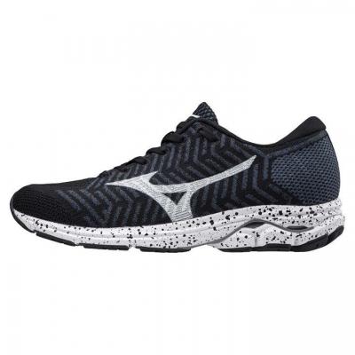 Adidasi alergare Mizuno WaveKnit R2 pentru Femei negru alb albastru
