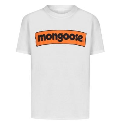 Mongoose Logo Tee pentru copii alb rosu