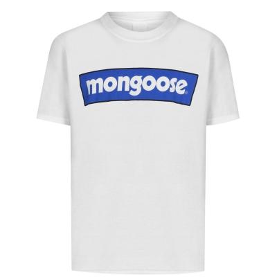 Mongoose Logo Tee pentru copii alb albastru