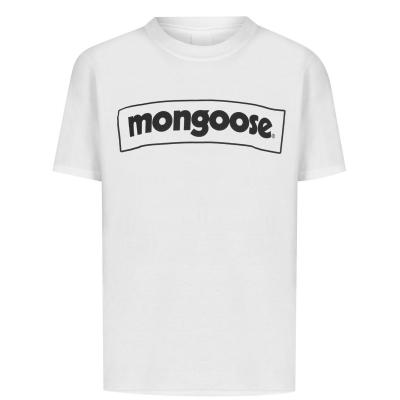 Mongoose Logo Tee pentru copii alb negru