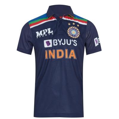 MPL Sports India ODI Shirt 2021 pentru Barbati bleumarin