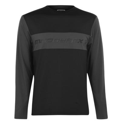 Tricou Muddyfox cu Maneca Lunga Technical pentru Barbati negru