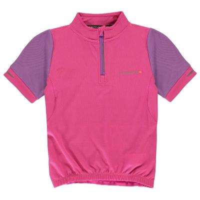 Muddyfox cu Maneca Scurta Cycle Jersey pentru fetite magenta roz inchis
