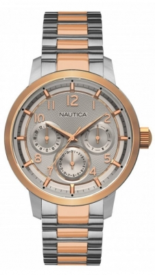Nautica Watches Mod Nct 15 Multi Ii - City - Urban Chic Nad19556g - Br Slv Case