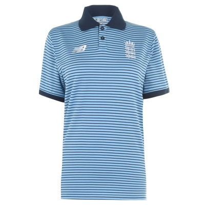 Tricouri Polo New Balance Anglia Cricket Shirt pentru Barbati albastru