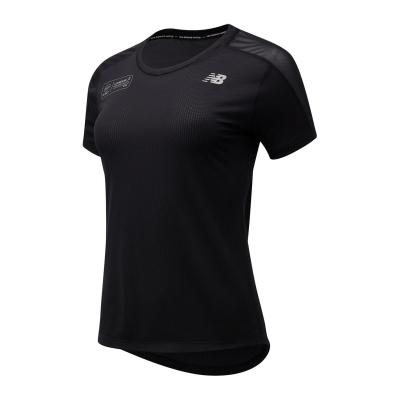 Tricouri New Balance Virgin London Marathon Impact Run pentru Femei negru