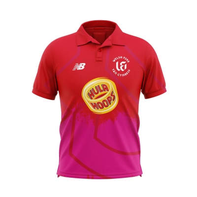 New Balance Welsh Fire The Hundred Playing Shirt rosu yellowred